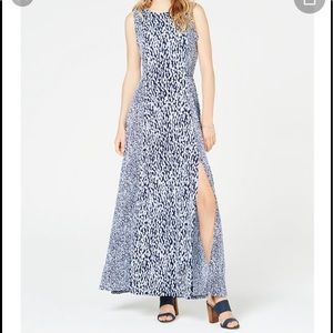 NWT Michael Kors Slitted printed Maxi Dress